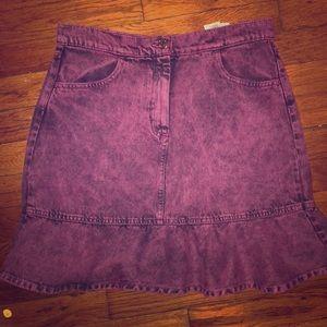 ASOS Pink stone wash denim skirt - NEW